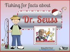 "This is a PPT that features an interactive activity for young students to learn some biographical information about Dr. Seuss. The activity is set up to go ""fishing"" for the answers to seven different questions about Dr. Seuss. On SALE today! 30% off with code L2P9Y at http://www.teacherspayteachers.com/Product/Biography-Facts-Dr-Seuss-Theodor-Geisel"