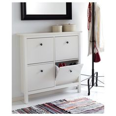 White Wooden Four Tier Ikea Shoe Storage Drawers - The Best Ideas To Organizing Your Stuff  With Ikea Storage Cabinets