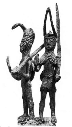 Sardinia, bronze sculpture representing a warrior