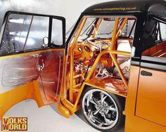 Visit The MACHINE Shop Café... ❤ Best of VW @ MACHINE ❤ (Combie Pickup Drag Racer) Volkswagen Transporter, Volkswagen Bus, Vw T1, Vw Camper, Campers, Motor Kombi, Kombi Pick Up, Combi Split, Combi Wv