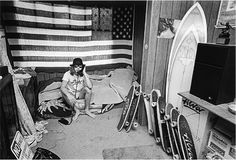 Tony Alva - such a cool shot of Tony's bedroom in Cali in the 70's. Always Rad!