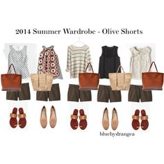 Summer Wardrobe - Olive Shorts, created by bluehydrangea on Polyvore