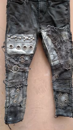 Mad Max Skinny fit Post Apocalyptic doomsday Jeans by UniqueNightmares on Etsy https://www.etsy.com/au/listing/184039551/mad-max-skinny-fit-post-apocalyptic