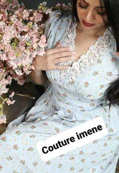 Stylish Dresses, Fashion Dresses, Formal Dresses, Classy Shorts Outfits, Moroccan Dress, Hijab Fashion Inspiration, Striped Midi Dress, Blouse Patterns, Sewing Clothes