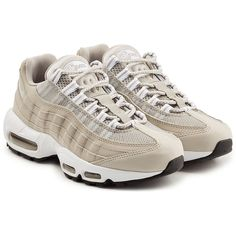 Nike Air Max 95 Essential Sneakers (645 PLN) ❤ liked on Polyvore featuring shoes, sneakers, one color, nike footwear, nike shoes, gray shoes, nike sneakers and gray sneakers