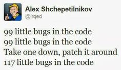 Software developers will know...