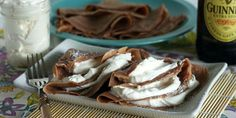 These tasty crepes get a boozy twist thanks to a half cup of Guinness.  Get the recipe at Wanna Be a Country Cleaver.