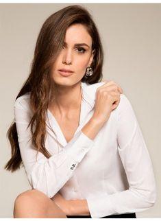 b135a23b85 Camisa Social Branca Personalizada Principessa Ava
