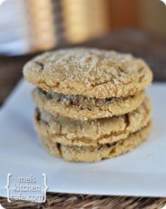 Brown Sugar Crackle Cookies