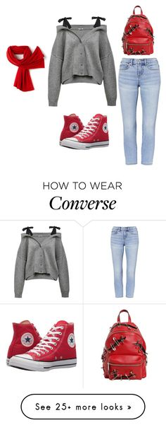 """Bez naslova #43"" by mejra82 on Polyvore featuring Converse, Moschino and Lacoste"