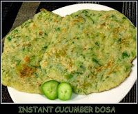 Instant Cucumber Dosa