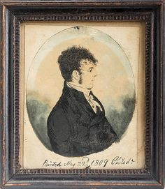 MINIATURE PROFILE PORTRAIT OF A YOUNG DARK-HAIRED PHILADELPHIA GENTLEMAN, 1809.