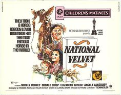 National Velvet movie posters at movie poster warehouse . Elizabeth Taylor, Big Sur Beach, Eva Marie Saint, Angela Lansbury, Charles Bronson, Henry Fonda, Opening Credits, Vintage Movies, Good Movies