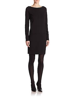 Ralph Lauren Black Label Black Label Adrienne Long-Sleeve Dress