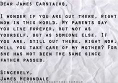 James Carstairs and James Herondale.  Serious feels coming to the eyes. :'( Excuse me. i must go sob in a corner..