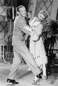 Ginger Rogers Fred Astaire Top Hat Dancing Smiling 24x36 Poster at ...