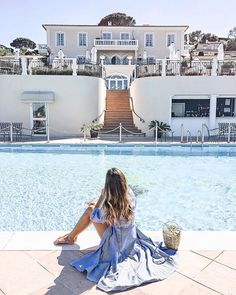 Splish splash ✨ villa belrose, althoff Hotel, Livia auer, travelblog, luxury hotel, French Riviera, travel tips , Find this cute basket and my fav summer dress here: http://liketk.it/2reSN #liketkit @liketoknow.it