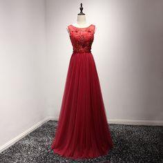 Burgundy Wine Red Backless Prom Dresses 2017 von camellialover