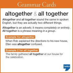 """""""altogether"""" and """"all together"""""""