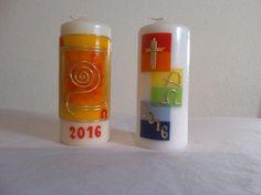 Osterkerze/ Kommunion/Konfirmation made by Biggi's Geschenke via DaWanda.com