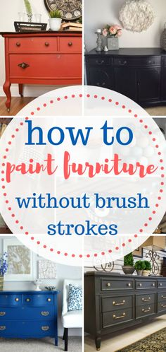 Learn how to paint furniture without brush strokes! DIY Home, DIY Home Decor, Home Decor Hacks, Painting Furniture, Painting Furniture Hacks, Crafts, Craft Projects, Crafting, Painting Tips