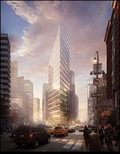 Exterior perspective drawing behance Ideas for 2019 Amazing Buildings, Modern Buildings, Facade Design, Exterior Design, Architecture Visualization, Architecture Design, Conceptual Sketches, Tower Building, Building Rendering