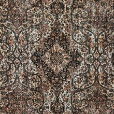 Italian Rustic Paisley Stretch Cotton Twill