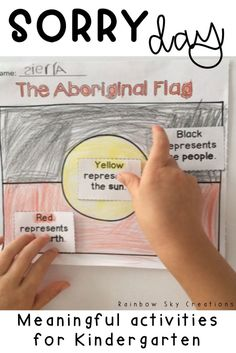 These Sorry Day activities are ideal for children in Kindergarten. Activities focus on Aboriginal and Torres Strait Islander People, their culture, traditions and history. Tasks deal with the truths of National Sorry Day in Australia at an age appropriate level. Use on National Sorry Day or throughout Reconciliation Week. Click the link for more details {Kinder, Prep, Foundation, early stage 1, early years, homeschool} #rainbowskycreations