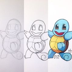 Making of #Squirtle from #Pokemon  #Nintendo #DS #3DS #SubelafiebrePokémon #Pokémon  #fanart #illustration #draw #sketch #drawing #art #artistsoninstagram #dailysketch  #traditional #traditionalart #markers #ink  #cute #adorable #chibi #kawaii  #gaming #game #videogames  #wip #process #pencil #ink