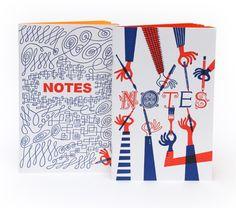 Chronicle Books Letterpress Journals & Notecards: Designer Klas Falhen