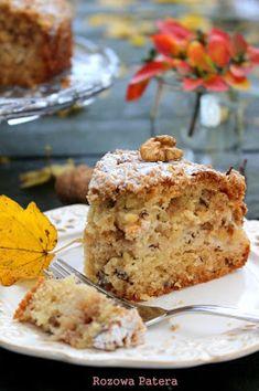 Różowa Patera: Ciasto orzechowo-cynamonowe z jabłkami i chrupiącą skórką Bakers Gonna Bake, Banana Bread, French Toast, Baking, Breakfast, Sweet, Food, Tart, Apple Tea Cake