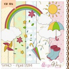 Angel Wing Scraps: blog trains ★ rainy day*