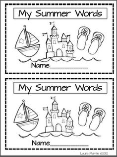 My Summer Words - Re-pinned by @PediaStaff – Please Visit http://ht.ly/63sNt for all our pediatric therapy pins