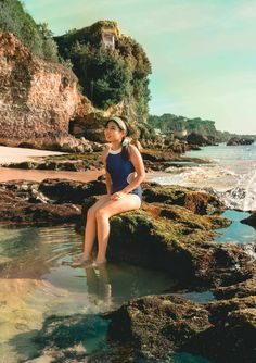 Untainted beauty just beyond the cliffs of Jimbaran. Go to Tegal Wangi beach to experience saltwater jacuzzis formed by mother nature. Jimbaran, Hidden Beach, Mother Nature, Journey, Adventure, Summer, Blog, Travel, Beauty