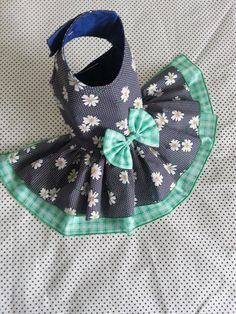 Small dog Daisy Dress clothes Summer Yorkie by TeddyFaceDogClothes
