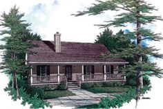 House Plan 14-140 1277 sq ft 3 beds 2.00 baths 44' wide 41' deep  Just wish it had a garage