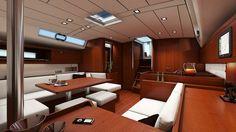 Beneteau Oceanis 45 sailboat - interior view .http://www.sailboat-interiors.com/ http://www.sailboat-interiors.com/store