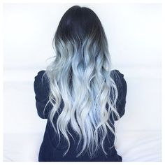 Ice Queen - icey blue ombré