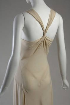 Evening gown (image 6) | Madeleine Vionnet | Paris | 1932 | bias-cut silk crepe | Chicago History Museum | Object #: 1975.145.2 | According to Vionnet scholar Betty Kirke, however, this garment may actually be lingerie.