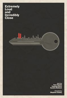 Extremely Loud and Incredibly Close poster. Minimalist. Part of the 2012 Best Picture Oscar Nominees series by Hunter Langston.
