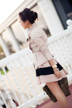 Slightly asymmetrical skirt profile--yes!  Love the coat too.  ^^  Spring Breeze :: Soft Textures & Rose Pleats by Wendy's Lookbook