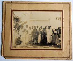 India 1940s Vintage Photo People Grouping mounted on cardbord #p15