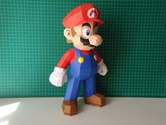 For those big fans of Super Mario, just one Super Mario papercraft apparently is not enough. Then you may like to put another Super Mario paper craft on your de 3d Paper Crafts, Diy Paper, Paper Art, Super Mario Party, Super Mario Bros, Cardboard Toys, Paper Toys, Diy Handmade Toys, Paper Crafting