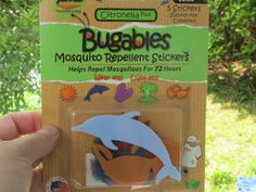 awesome way to keep mosquotos away from your kids while playing outside!!  Stick them to the back of their clothing or on to things in the yard near where they play!