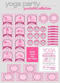 Yoga Party Printable Collection. $15.00, via Etsy.