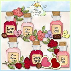 Love Potion 1 - NE Cheryl Seslar Clip Art : Digi Web Studio, Clip Art, Printable Crafts & Digital Scrapbooking!