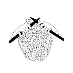 it's like if your brain is handcrafted. the brain needs process to be made. just like how you need to learn new things to fill up that mind of yours. Henn Kim, Grafik Design, Art Plastique, Art Inspo, Line Art, Art Drawings, Weird Drawings, Street Art, Street Style