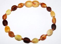 Raw Genuine Baltic Amber Teething Children Anklet by SERENITYAMBER, $8.50