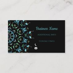 Shop Turquoise Pearl Mandala Business Card created by BlueRose_Design. Business Names, Logo Design Inspiration, Business Card Design, Logo Branding, Mandala, Things To Come, Turquoise, Pearls, Create