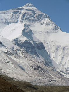 Mount Everest . The North Face . Tibet